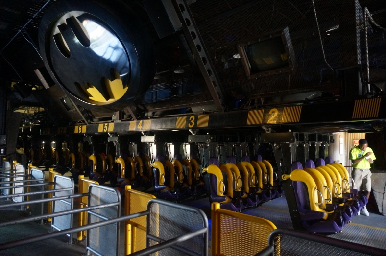 I am also one of the first to ride Batman this morning.