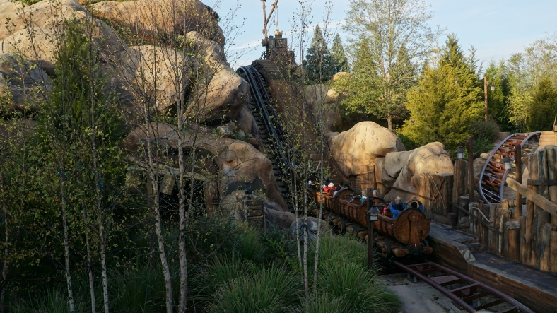 Luckily we had booked Fast Passes for Seven Dwarfs Mine Train as it had about a 65 minute wait when we rode it. We only waited about 10 minutes.